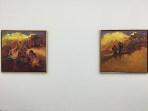 罗中立近几年以金色为主的系列作品