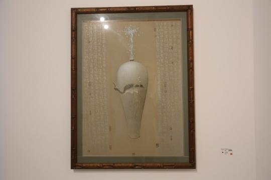 《脆弱1》80×110cm纸板油画棒 2003