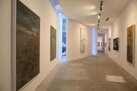 展厅分为外侧和内侧展厅,图为外侧展厅