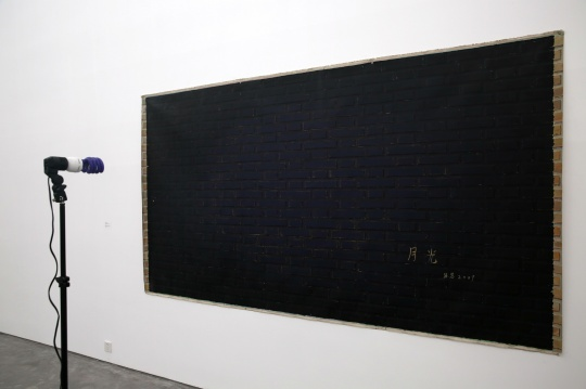 展览展出了张慧的作品《我过去的情人变老了》 67×301cm 布面丙烯 2008