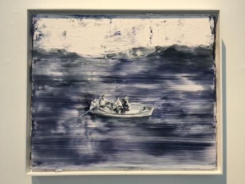 《无桨之舟》50 x 60 cm 布面油画 2016