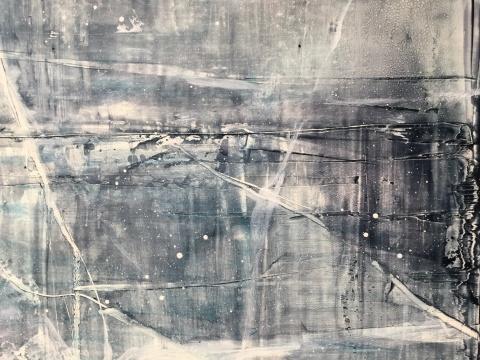 《咏叹调 No.1》局部 50 x 60 cm 布面油画 2016