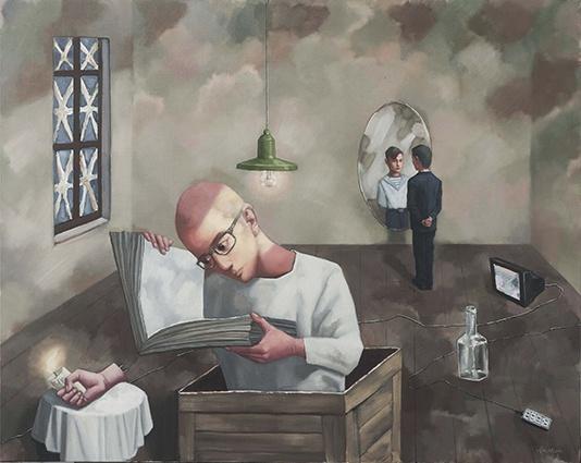 《朗读者》120 cm x 150 cm 布面油画 2016