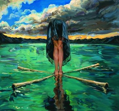 《十字舟》140 x 150 cm 布面丙烯2016
