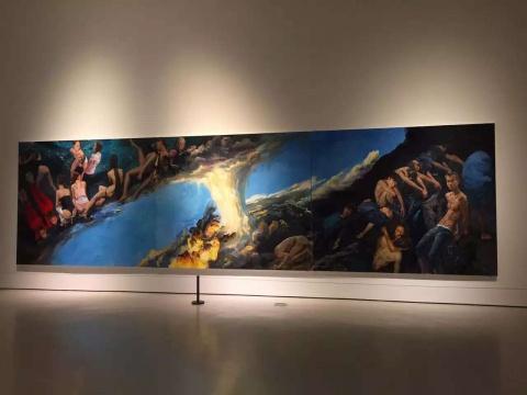 《坤乾》三联 每联250 x 300 cm布面丙烯2014