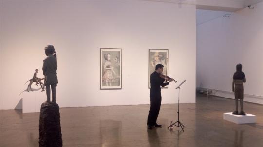 展览现场小提琴独奏