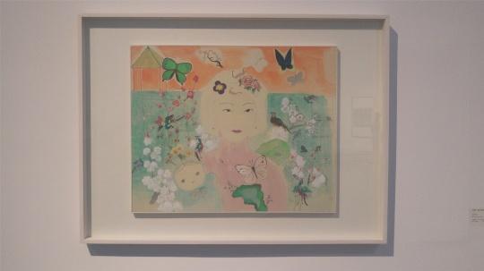 王蒙莎 《彼岸花之一》 60×73.5cm 纸本设色 2015