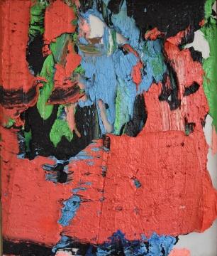 朱金石 《它引导我们如何看夕阳》120×100cm 布面油彩 2007