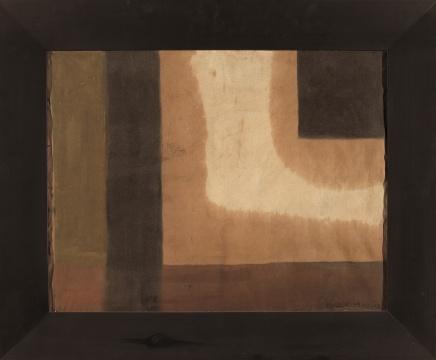马可鲁《构成之二》64×80cm 布面油彩 1983
