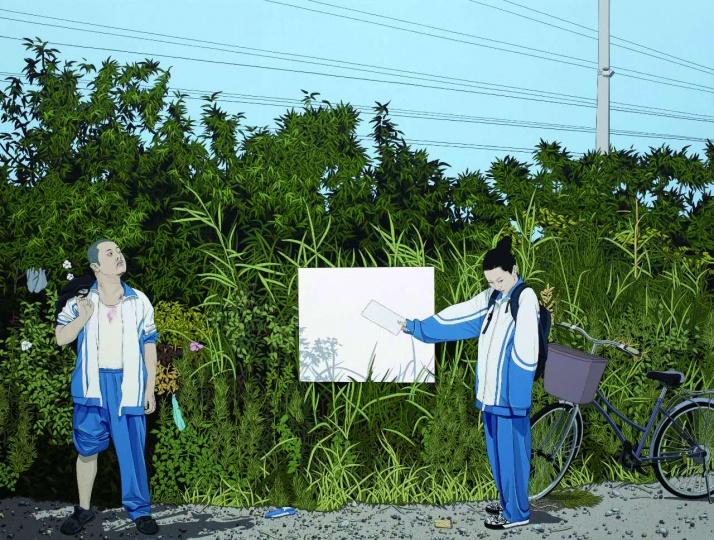 《不羁的青春》 180×240cm 亚麻布、丙烯 2015