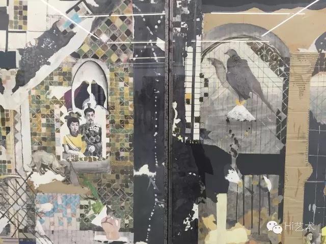 陈彧君 《亚洲地图NO.3、NO.5、NO.6、NO.8》 120×240cm 纸本综合技法 2008
