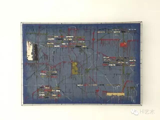 安立奎·布里克曼 《蓝色迷乱》 105×2151cm 油画钢网布面 2014