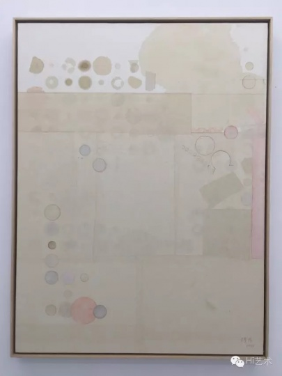 梁铨 《冷泉之三》 122×92cm 茶、色、墨、宣纸拼贴 2013