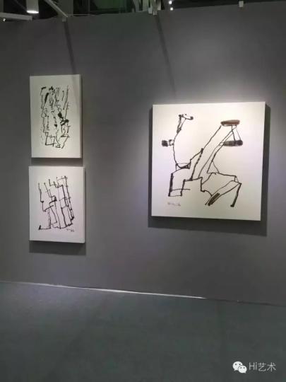 艺琅国际(上)、千高原艺术空间(中)、世界画廊(下)等机构,都带去了本地艺术家王川的作品,观众的反馈也不错