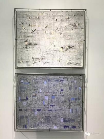 上:安立奎·布里克曼《清晰》,下:安立奎·布里克曼《蓝色片断》©桥舍画廊