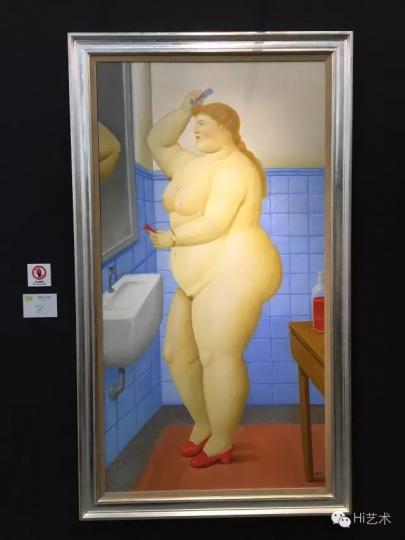 芳草地画廊(香港)第一次参与深圳的艺博会,因此在作品的面貌上也希望呈现多样化的特征。费尔南多·伯特罗的作品得到了诸多人询价,但一幅《盥洗室》95万美金的标价,也吓退了诸多观众