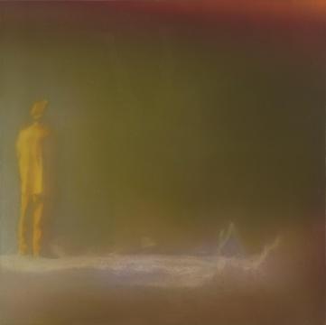 《Night worker》50×50cm 布面油画 2016
