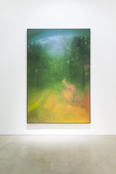 《Deer in the Forest》 300x200cm 布面油画2016