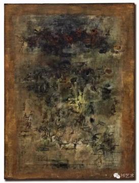 赵无极 《他乡》 130×97cm 油彩画布 1955  估价:25,000,000–35,000,000港元