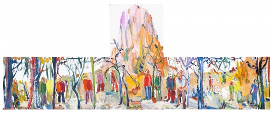 尹朝阳 《长歌行》 60×150cm布面油画2015