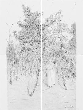 范勃 《未标题-8》 80×60cm 布面油画 2015