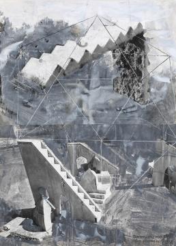 《共济的历史》 121.5×88cm 照片、拼贴画、涂有丙烯的纸片和纸板 2002-2008