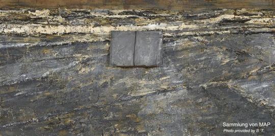 《初始》 280×570cm 铅、木头、丙烯 1985