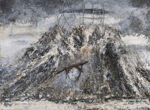 《上帝、耶稣、真神》 280×380cm 油彩、乳化剂、丙烯、物品 2011