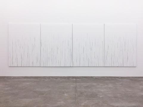 展览中展出陈彧凡作品 《不确切的风景》200×150cm x4 布面丙烯综合技法 2015