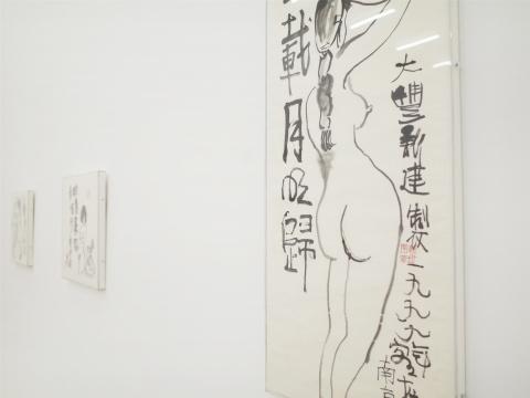 展览现场朱新建作品细节