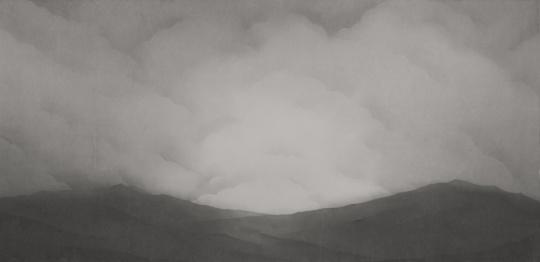 日本艺术家 金泽有那 《Floating Air》 146×300cm 纸本水墨2016