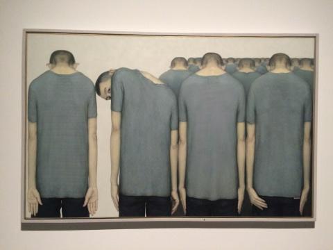 林志彬《表情系列十五》190x120cm 布面油彩 2013