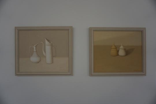 田中锋 《白色静物》《黄色静物》50×60cm×2 布面油画 2016