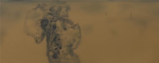 彭斯 《疎石帖》 布面油画 120x300cm 2016