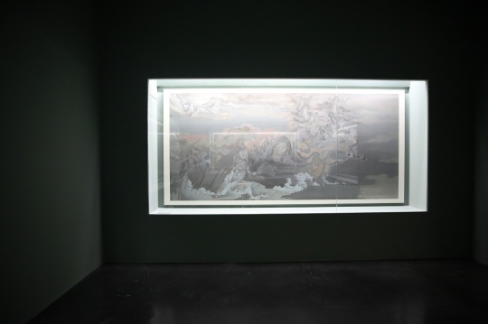 《潇湘八景——卧游》 387 x 184 cm 绢本水墨 2016