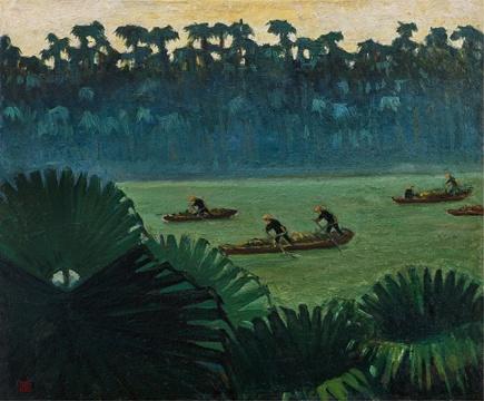 Lot 323 余本 《葵乡》 50×61cm 木板油彩 1960  估价:30万-35万元
