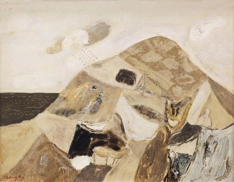 Lot 330 尚扬 《E地风景之五》 52×66cm 布面油彩 1997  估价:90万-120万元