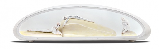 Lot 368 UNMASK 《Oº NO.5》 50×150×40cm 不锈钢、油漆、树枝、羊毛、LED灯带 2009  估价:20万-25万元