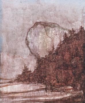 Lot 333 王亚彬 《白石崖》 72×60cm 布面油彩 2014  估价:6万-8万元    唐丽莉:耐看,性价比高。中小尺幅作品里,王亚彬的格调和水平一直很好,价格始终不贵。    推荐作品二十二:钱佳华 《一和一》——这件作品很优雅,代表了艺术家的理性