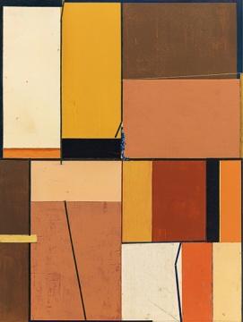 Lot 359 钱佳华 《一和一》 100×75cm 布面丙烯 2013  估价:4万-8万元    伍劲:80后钱佳华是新抽象的一代,我个人觉得这件作品很优雅,代表了艺术家的理性,是一件不错的作品。