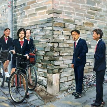 LOT108 刘小东 《自古英雄出少年》 200×200cm 布面油画 2000  估价:1200万—1800万元