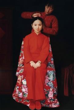 LOT115 王沂东 《待嫁的姑娘》 150×100cm 布面油画 1995  估价:550万—750万元