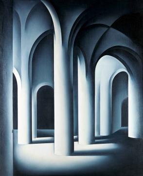 LOT144 舒群 《同一性语态系列·一种后先锋主义?5号C》 166×136cm 布面油画 1993  估价:80万—120万元