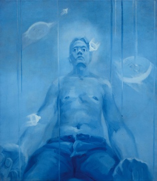 "Lot110谢南星 《十滴眼泪与十个自扮像之五》 150×130cm 布面油画 1997  估价:60万-80万元    黄予:谢南星是我一直关注的艺术家,是""青春残酷""和""实验派""绘画的代表艺术家,他绘画风格多变,很难用一种熟悉的创作形式来定义。他90年代末创作的""青春主题""系列作品具有重要的学术价值,成为他系列代表作之一。在中青年艺术家这个群体中,我认为他在艺术创造力和绘画性方面具有鲜明的风格,其艺术价值应重点关注,这件1997年创作的早期具象作品,也是众多藏家们重点关注的对象。  李苏桥:谢南星的《十滴眼泪与十个自扮像之五》,不用多说什么,以画得少和早期参加重要国际大展多而闻名的艺术家,谢南星作品的市场刚刚开始启动。"