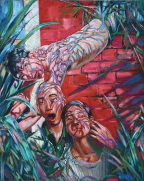 Lot 68 尹朝阳 《青春系列:影子》 100×80cm 布面油画 1995-2005  估价:38万-48万元    王新友:中国70后的重要代表,他的《青春远去》系列作品,采用的都是简洁的图示,深刻揭示了这代人独特内心体验的复杂的历史根源。    推荐作品十五:欧阳春 《低等妓院》——活着的芸芸众生的生存写照,与艺术家向往美好生活态度的尴尬的交集