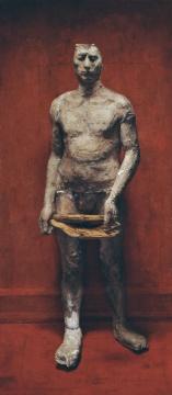 Lot 114 石冲 《行走的人》 180×80cm 布面油画 1993(©夜场)  流拍
