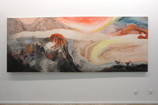 展览现场展出的谷文达早期作品
