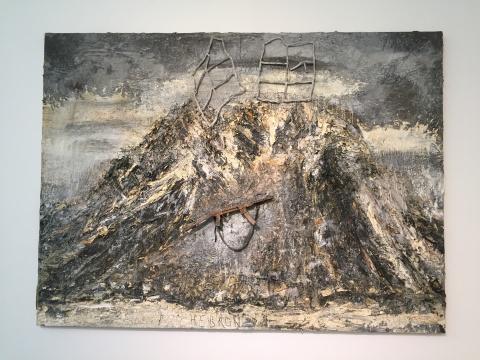 《上帝、耶稣、真神》 280×380 cm 油彩、乳化剂、丙烯、物品 2011