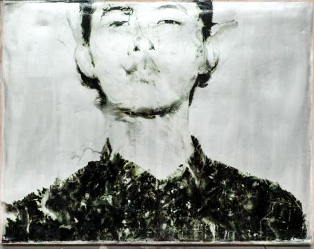 《两幅相连的肖像 2》,2016,胶片,综合材料,40×60 cm
