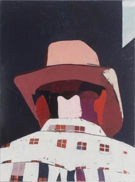 《Man with Plaid Shirt》120x90cm 布面油画 2016